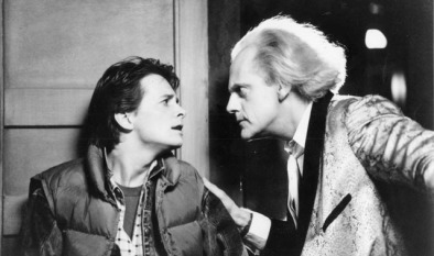 "Michael J. Fox and Christopher Lloyd in ""Back to the Future""  1985"